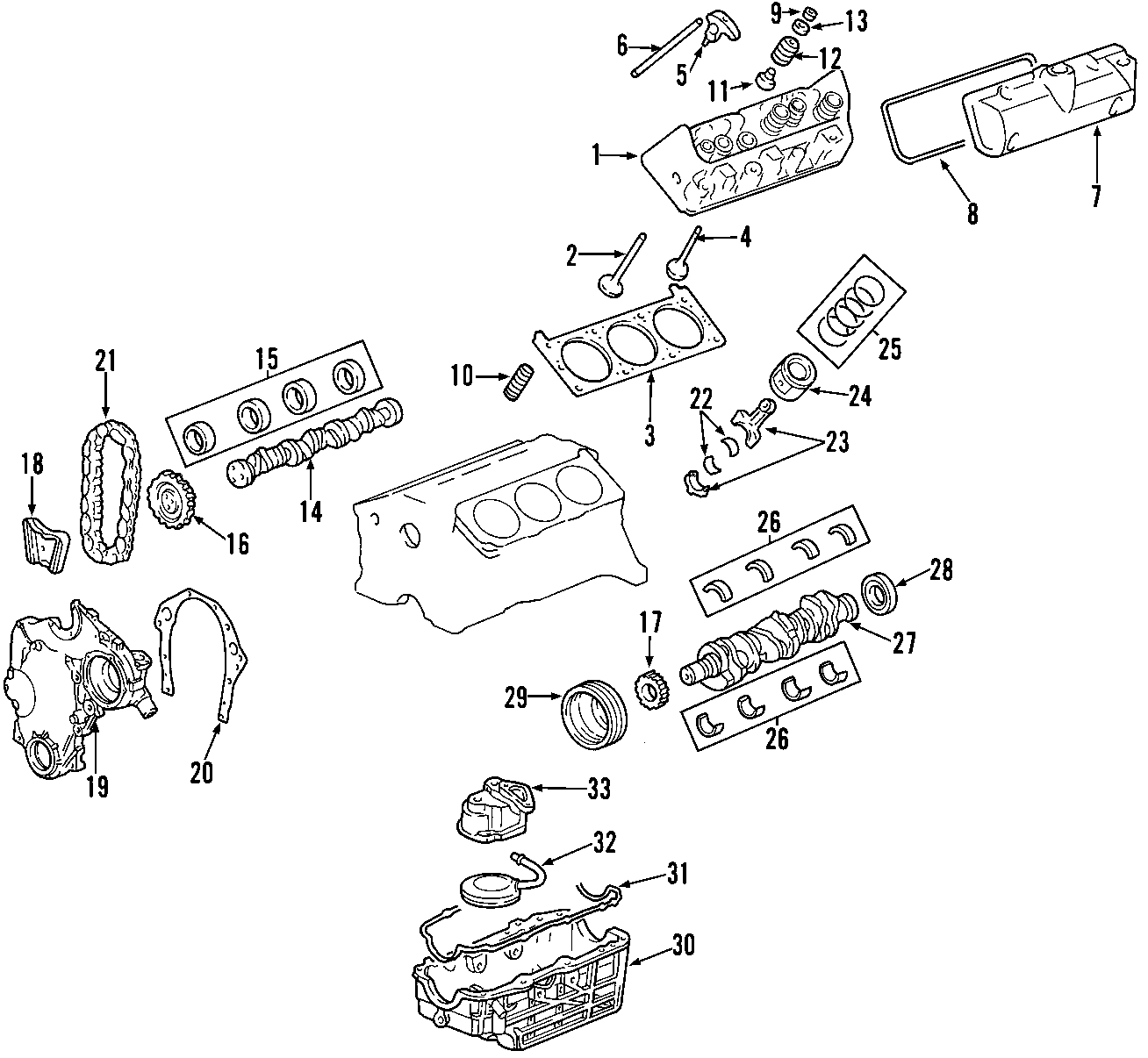 Chevrolet Impala Timing. Engine. ACTUATOR. CAMSHAFT