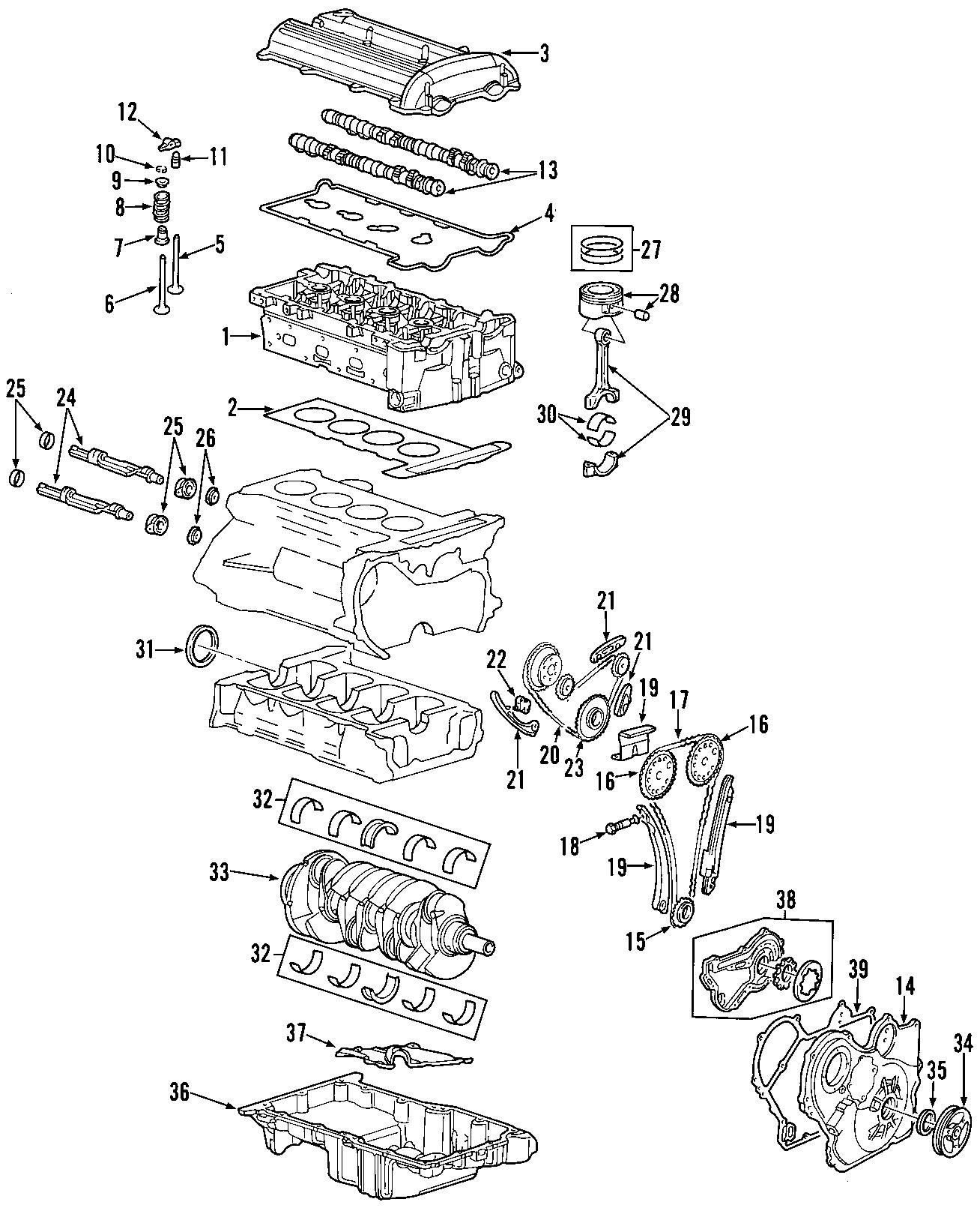 Chevrolet HHR Engine Piston. BEARINGS, VALVES, TIMING