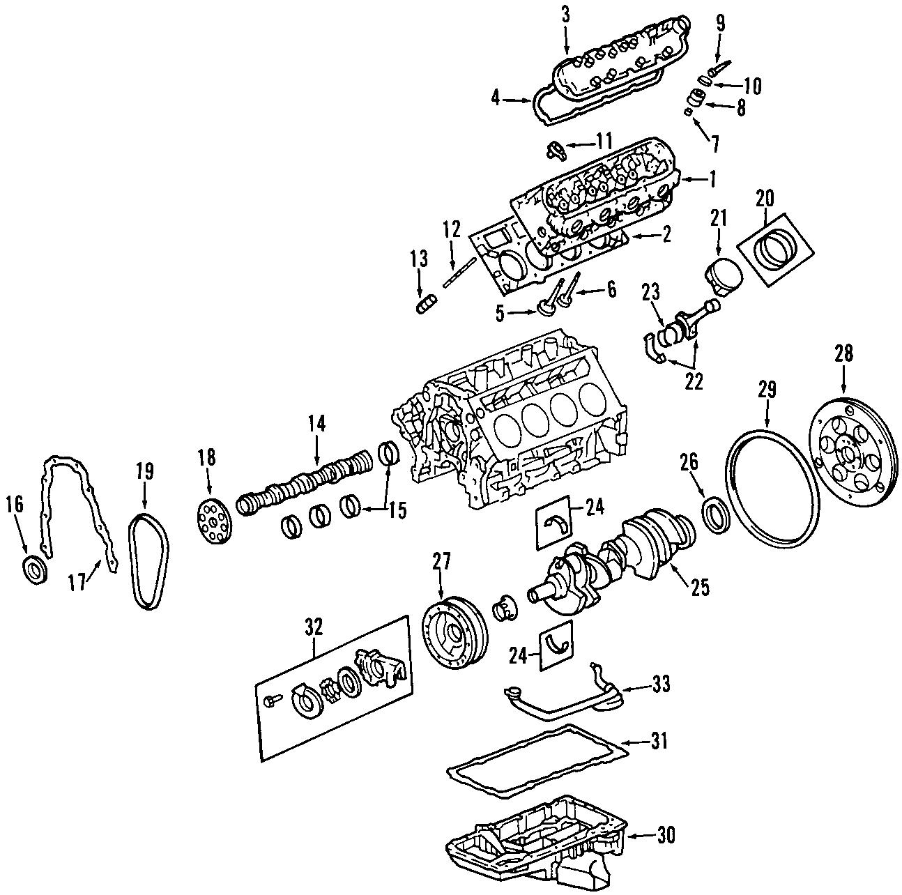 Chevrolet Corvette Engine Camshaft Bearing Models