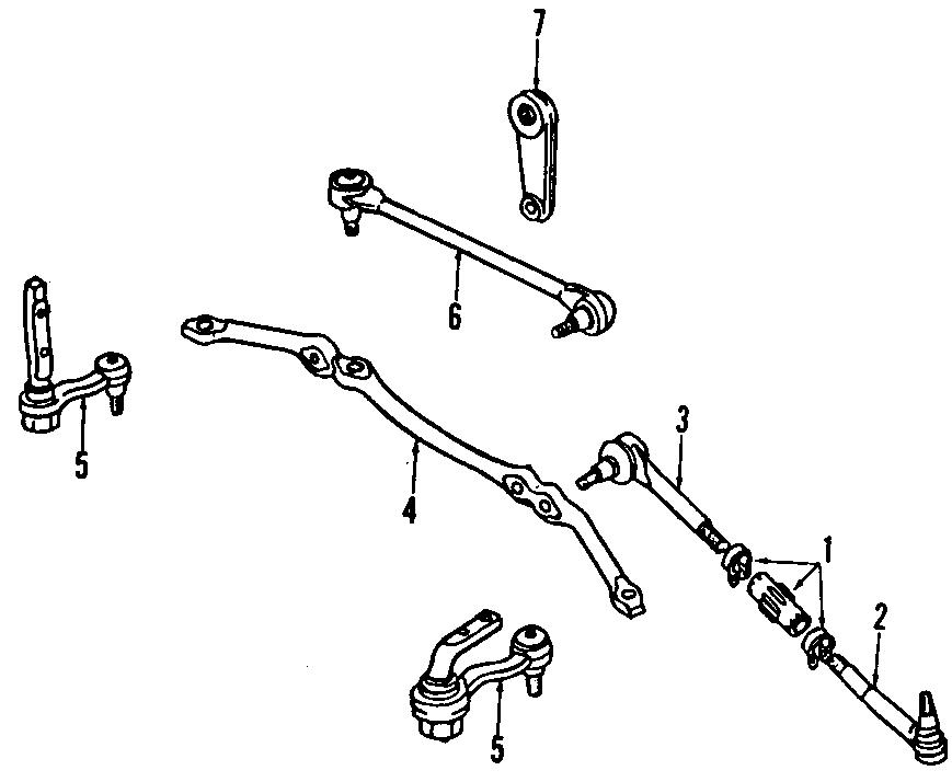 GMC SAFARI Steering Center Link. DRAG LINK. Rod. Steering