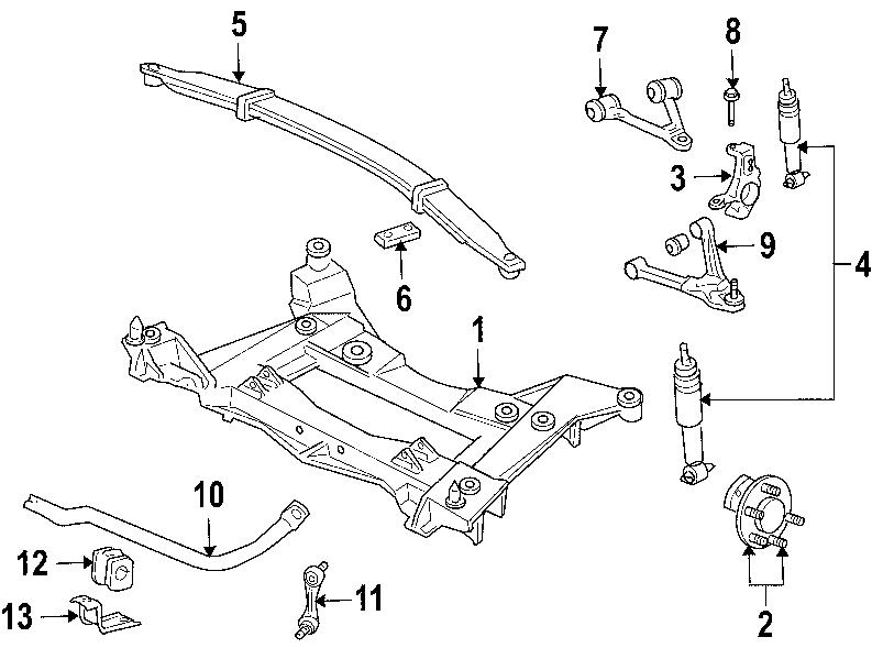 2006 Chevrolet Corvette Suspension Stabilizer Bar