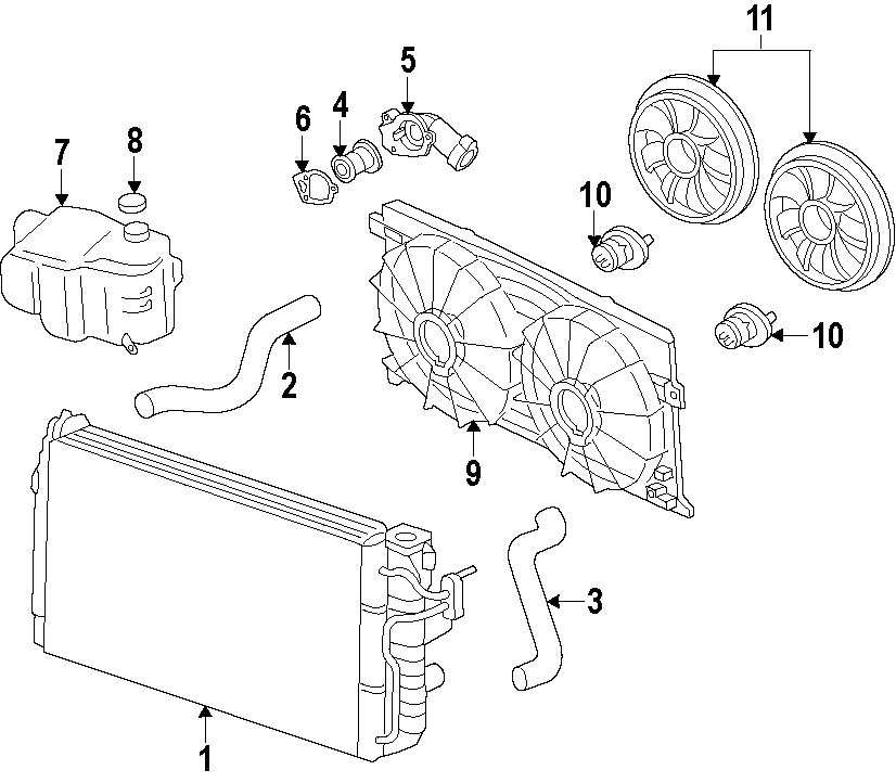 Pontiac Vibe Engine Cooling Fan Motor. May, Radiator