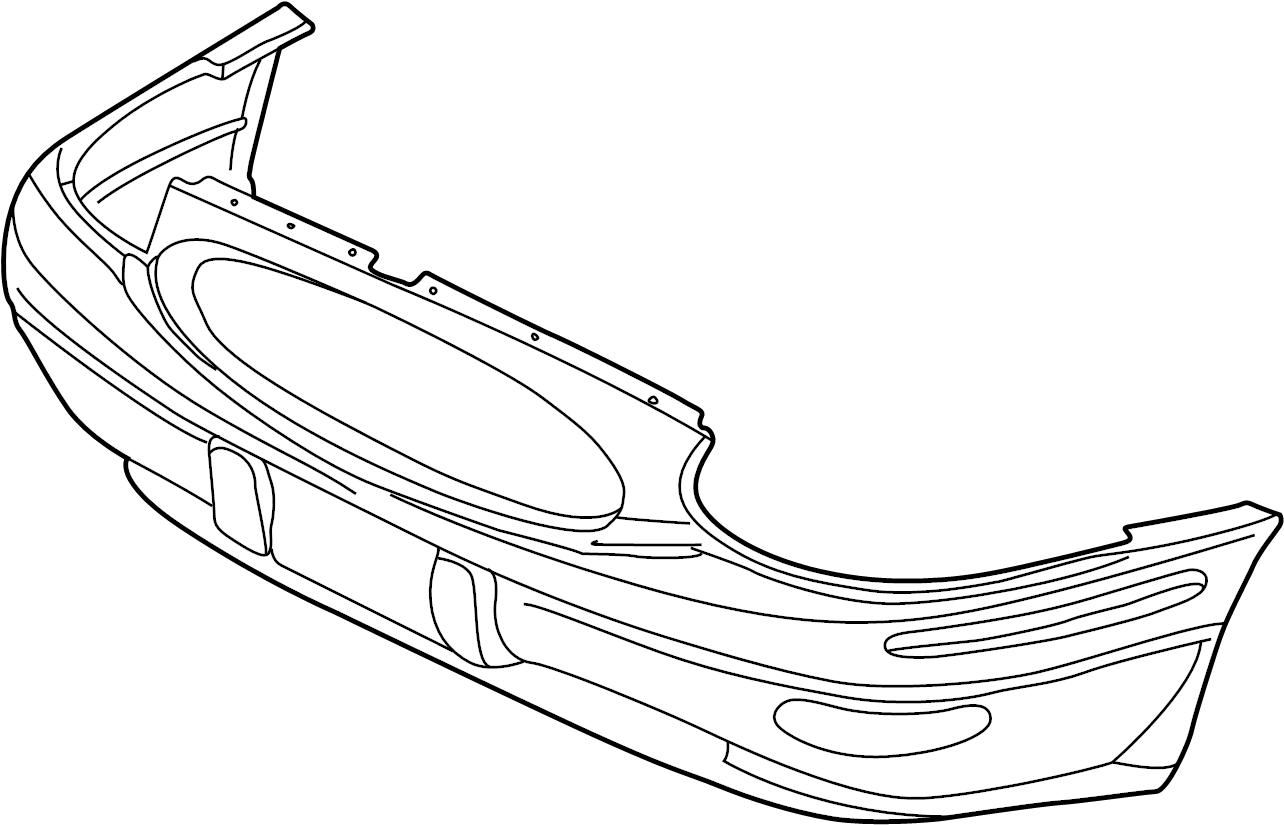 Buick Lesabre Bumper Cover (Rear, Upper, Lower). Limited