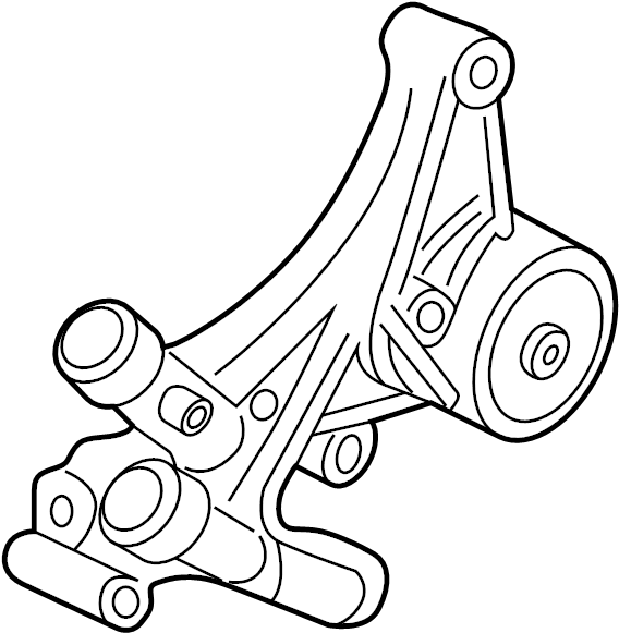 Pontiac Firebird Tensioner. Belt. Bracket. Mount. Wtension