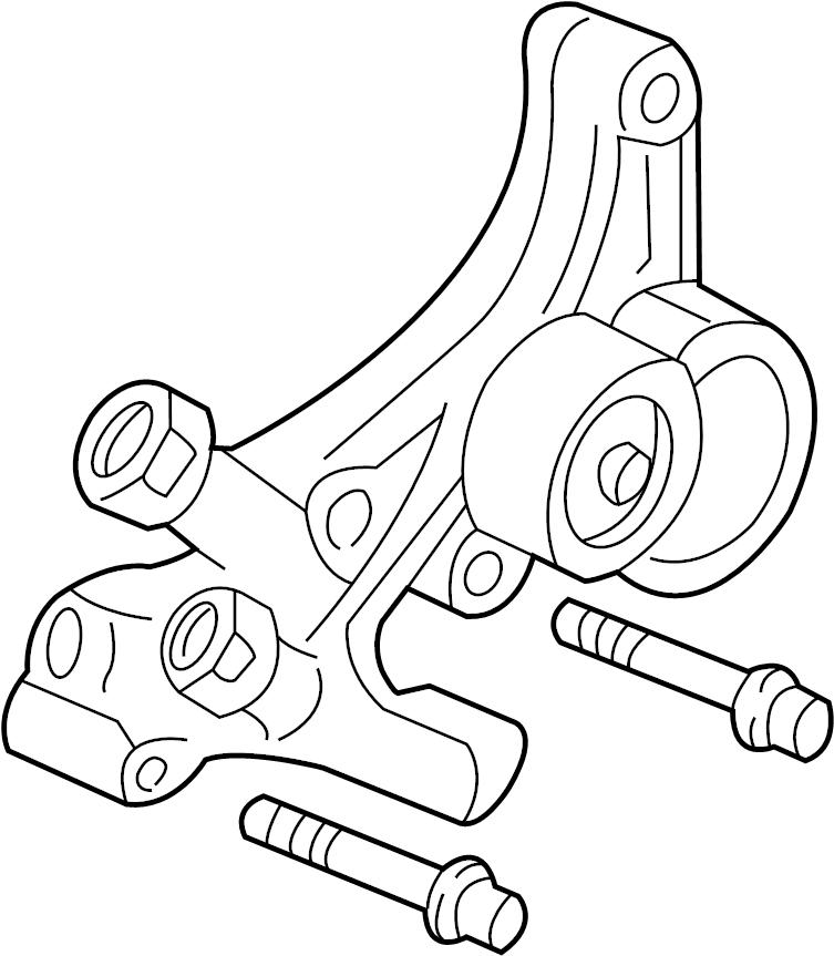 Pontiac Firebird Tensioner. Belt. Bracket. Wtension