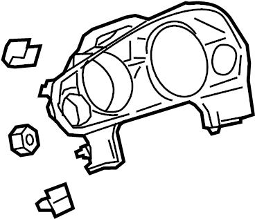 Buick Enclave Cluster bezel. PLATE. 2013-2017, ebony