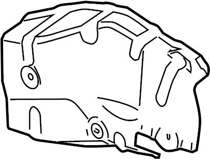 Buick Verano Steering Gear Dust Shield. LITER, ELECTRIC