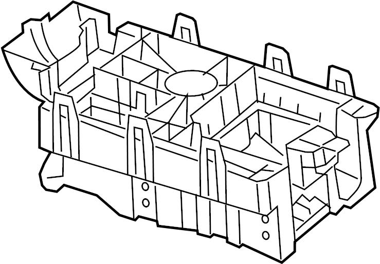 Chevrolet Malibu Fuse and Relay Center Base. ENGINE