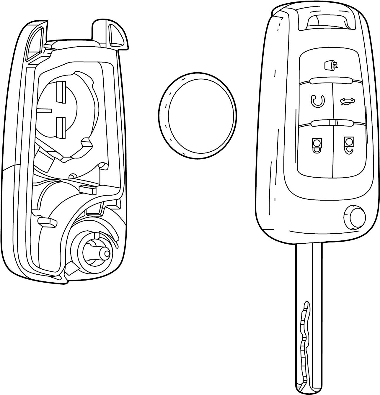 Buick Encore Keyless Entry Transmitter 16 Uncoded
