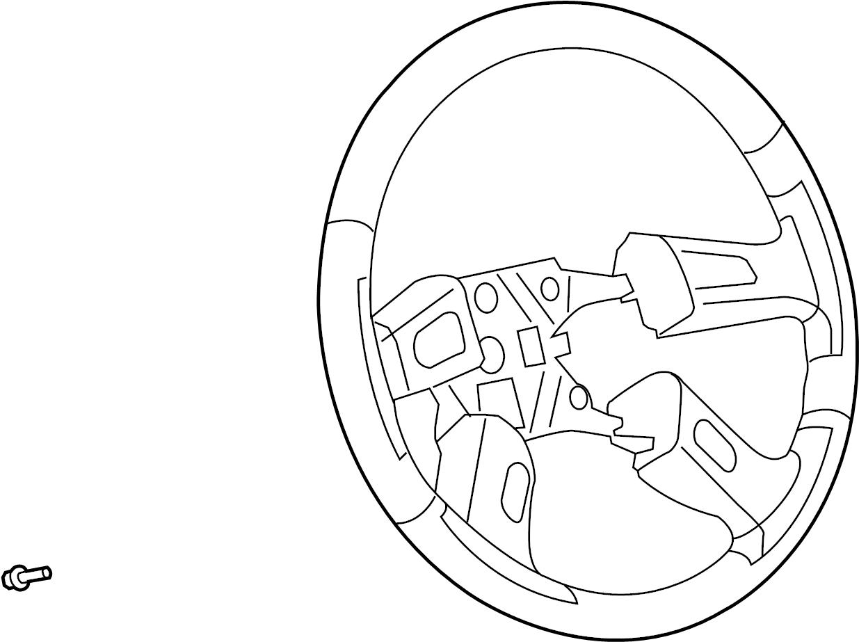 2008 Chevrolet Trailblazer Steering Wheel. Accessory