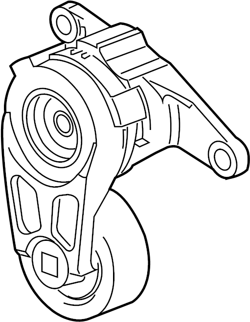 Buick Enclave Accessory Drive Belt Tensioner Assembly