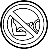 Chevrolet Tahoe Label. Child seat. Child seat caution