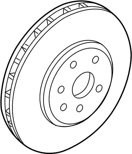 2011 Cadillac CTS Disc Brake Rotor. 1 Piece Design. 1
