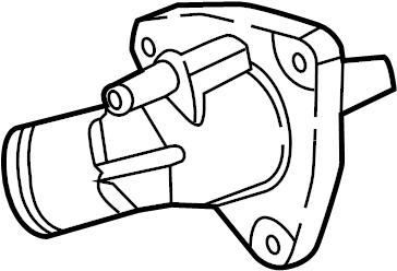 Chevrolet Corvette Engine Coolant Thermostat Kit. 6.2