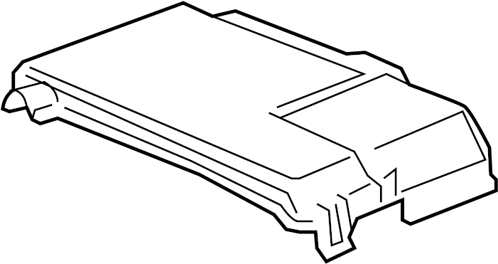 Cadillac CTS Junction Block Cover. COUPE, REAR COMPARTMENT