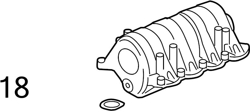 Oldsmobile Intrigue Engine Intake Manifold Gasket. LITER