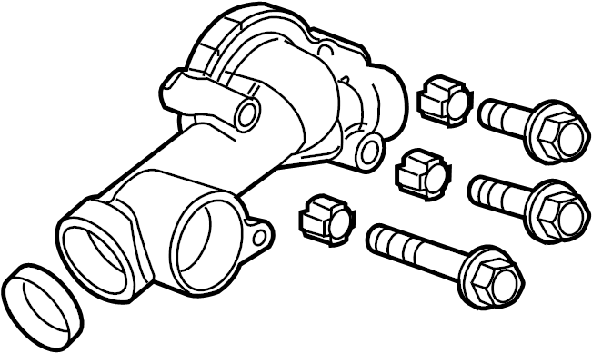 Cadillac SRX Engine Coolant Thermostat Kit. 2.8 LITER. SRX