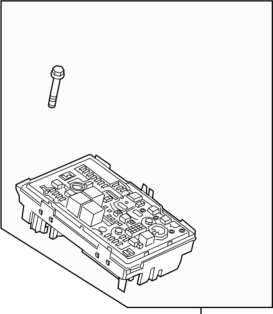 Cadillac ELR Fuse and Relay Center. ENGINE COMPARTMENT