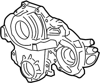 Pontiac G6 Engine Timing Cover. LITER, BEARINGS, Carlo