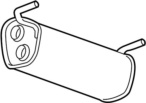 Chevrolet Cruze Exhaust Muffler. 1.8 LITER. Cruze, Cruze