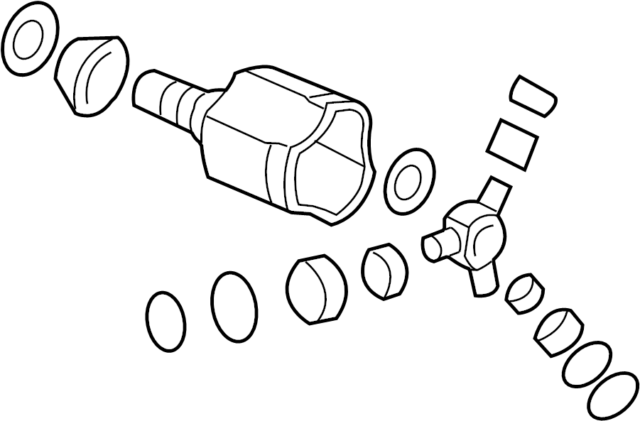 2014 Chevrolet Cv joint kit. Diesel, trans, left