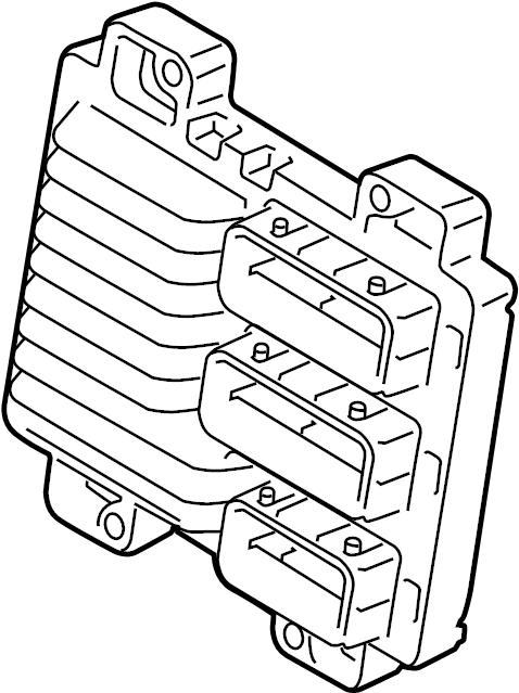 Cadillac ATS Ecm. Engine control module. Liter, labeled