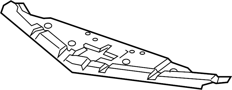 2002 Chevrolet Bumper Cover Spacer Panel (Upper). 2014-15