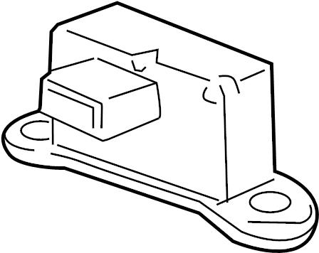 Chevrolet Cruze Suspension Yaw Sensor. Trans, Auto