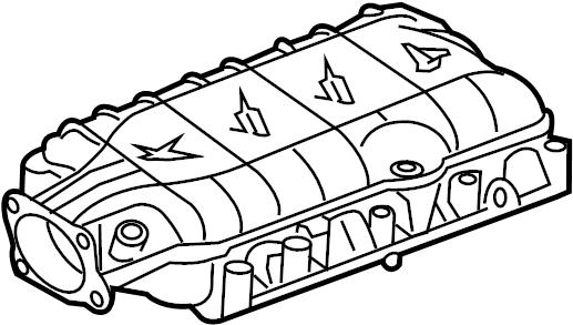 Chevrolet Corvette Engine Intake Manifold. Camaro; 6.2L