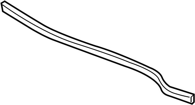 2006 Chevrolet Corvette Seal. Hood. Rear. To cowl. Rear w