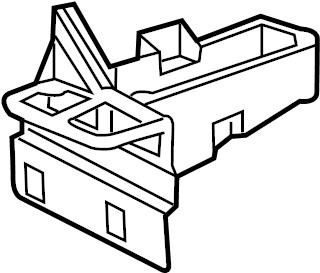 Chevrolet Corvette Junction Block Bracket. ENGINE