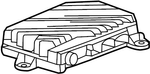 Chevrolet Corvette Radio Amplifier. W/o Bose. W/o Bose