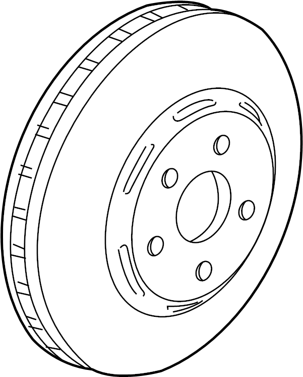 1998 Chevrolet Corvette Disc Brake Rotor (Front). Left