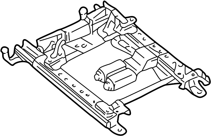 Chevrolet Corvette Seat Adjuster. W/o memory, driver seat