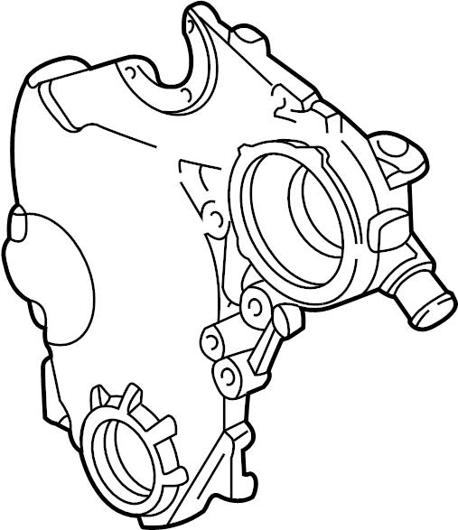 Chevrolet Beretta Engine Timing Cover. LITER, CYLINDER
