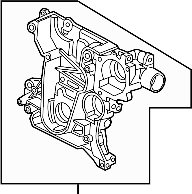 Chevrolet Cruze Engine Timing Cover. 1.8 LITER. TRANSAXLE