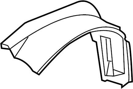 2003 Chevrolet Cavalier Shield. Liner. Fender. Left, Front