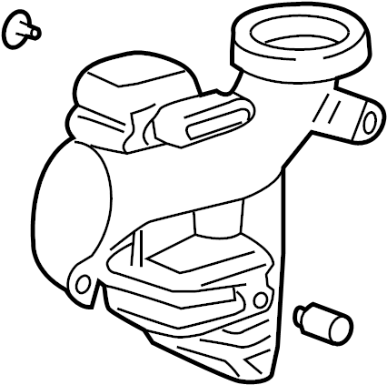 Pontiac G6 Duct. Air. Intake. Resonator. Engine. 2.4 liter