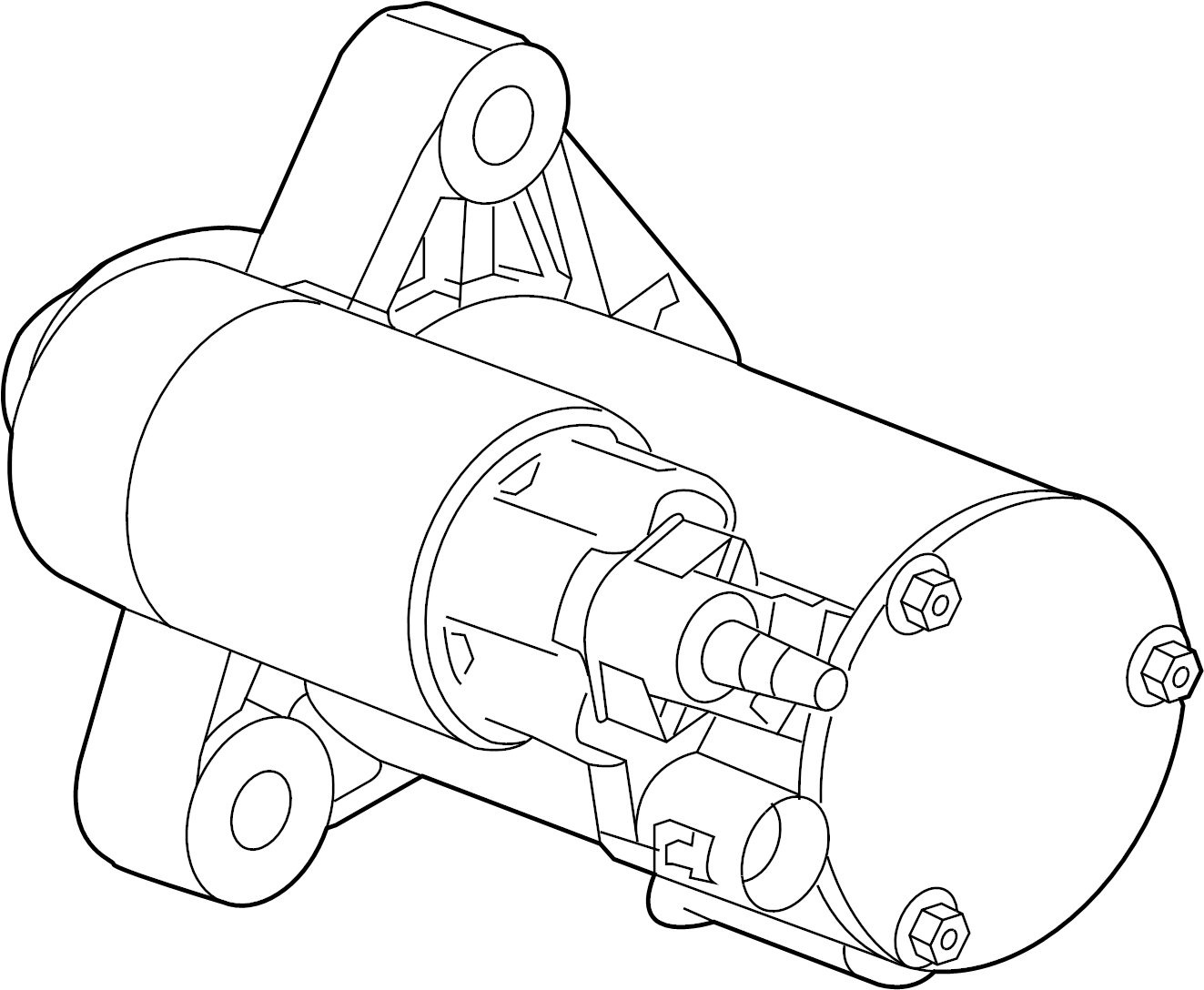 Gmc Acadia Starter Motor General Motors Does Not Service Components Separately