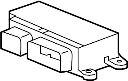 2013 Chevrolet Air Bag Control Module. Rear, SENSORS
