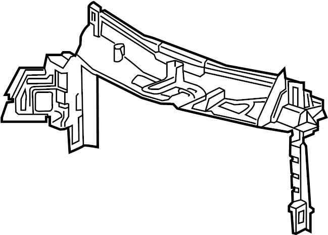 Chevrolet Malibu Baffle. Deflector. 1.5 LITER TURBO. Air