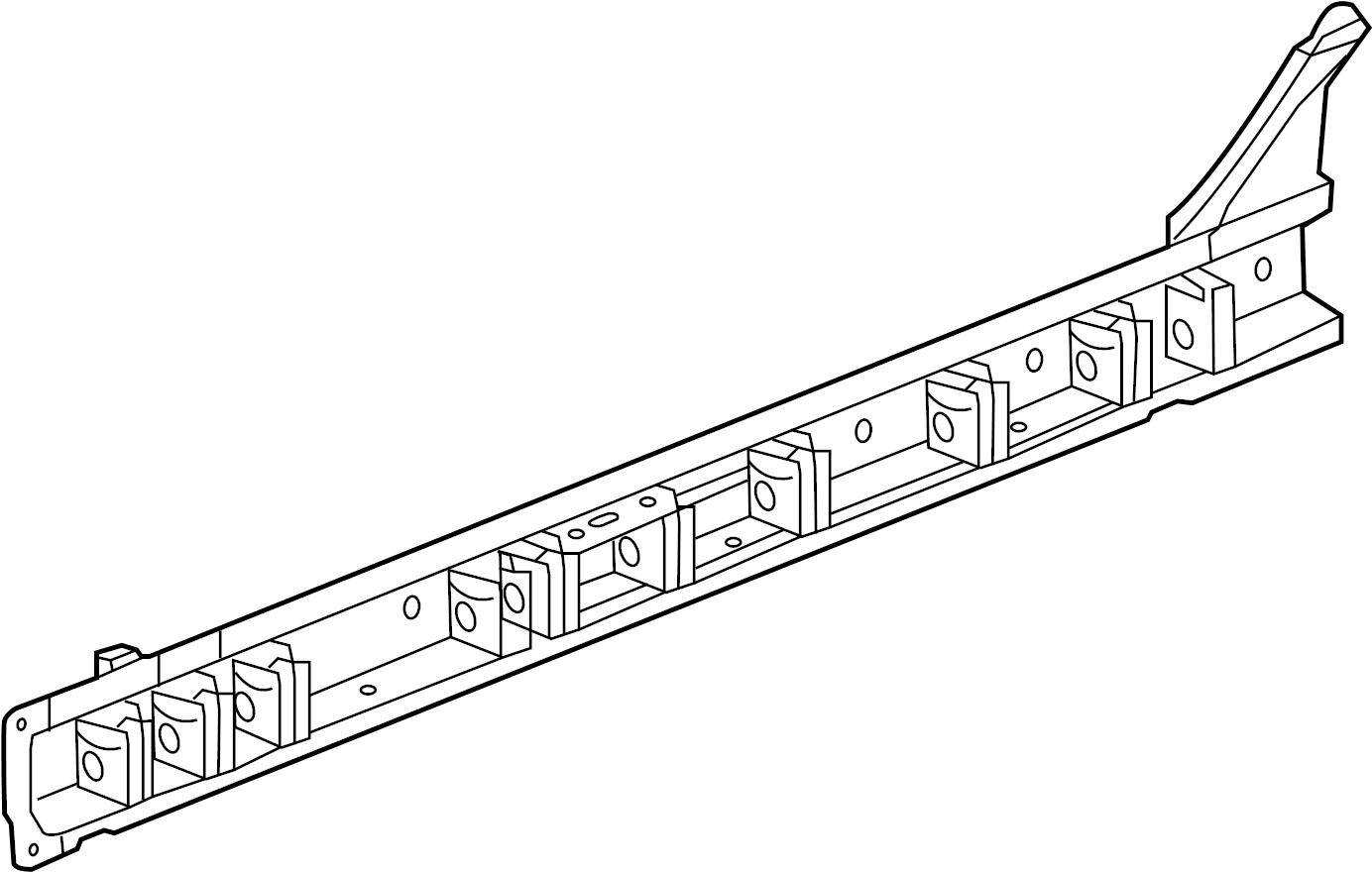 Chevrolet Malibu Reinforced Panel Rocker Floor Extension Front Inner Reinforcement