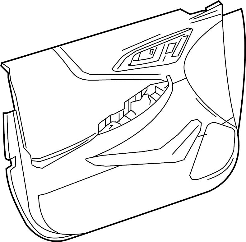 Chevrolet Malibu Door Interior Trim Panel. Leather, w/o