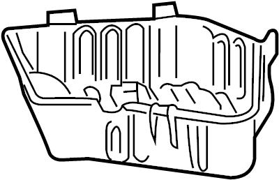Chevrolet Impala Air Filter Housing (Lower). 3.5 & 3.9