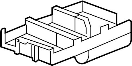 Pontiac Torrent Fuse. Retainer. Cover. (Lower). UNDERHOOD