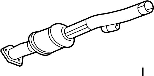2013 Chevrolet Equinox Pipe. Converter. (Front). LITER