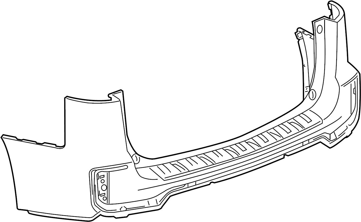 2017 GMC Terrain Bumper Cover (Upper). 2016-17, UPPER