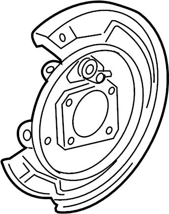Pontiac Vibe Parking Brake Backing Plate (Rear). Vibe