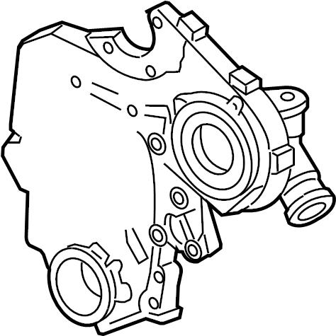 Chevrolet Lumina Engine Timing Cover. LITER, CYLINDER