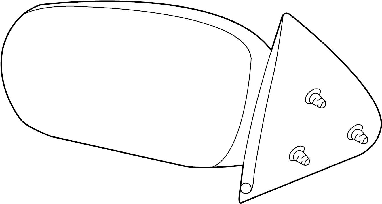 Pontiac Grand Am Door Mirror. Left, Replace, Repair